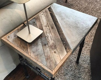 Woodcrete End Table
