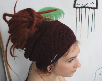 Dread tube red knitted dread Hat Dreadlock tube