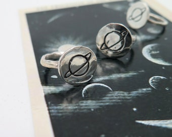 sterling silver planet ring