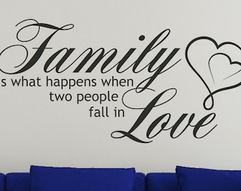 Family Is What Happens Vinyl Decal