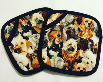 Lots of Dogs Pot Holders - set of two