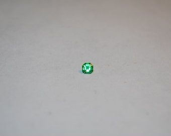 3.5 x 3.6 (0.23ct) Medium Green Emerald Cut Tsavorite Stone