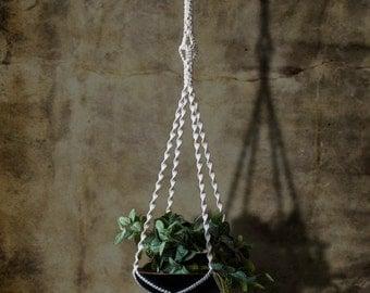 cotton macrame plant hanger DIAMOND