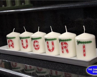 Set 6 personalised holiday Candles