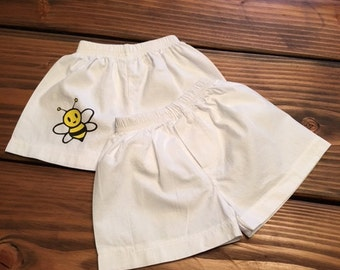 Bumble Bee Infant Shorts/ Baby Boy Boxers / 100% cotton boxer briefs for infants / Bumble BeeDiaper Cover / Infant Shorts / Newborn Shorts