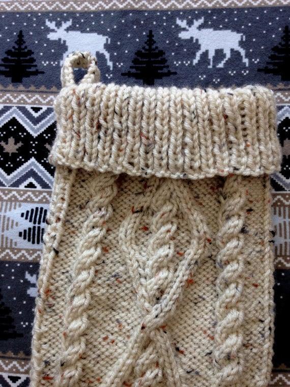Cable Knit Stocking Pattern, Fisherman Knit Christmas ...