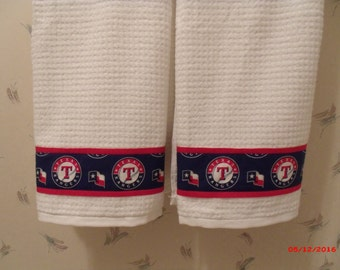 Texas Rangers Bath Towels & Shower Curtain Set, Father's day Gift. Birthday Gift, Housewarming Gift