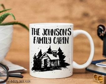 Cabin Mug, Cabin Gifts, Personalized Family Mugs, Mugs for Dad, Mugs for Men, Man Mug, Mugs for Him, Nature Lover Gift Hunting Gifts (P2411)