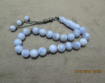 Natural chalcedony prayer (Efe style 10 mm)