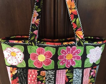 Blossom Embroidered Tote