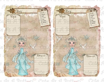 Printable Diary Pages Journal Pages Winter instant download Digital Collage Sheet PLR00007