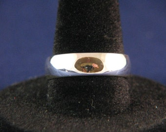 6mm Low dome, 1/2 rnd Sterling Silver Ring