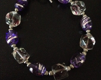 Sparkly purple bracelet