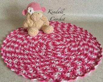 Crocheted Doily Rug Tshirt Yarn 104cm