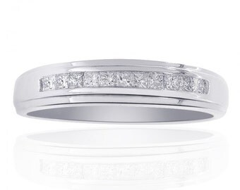 0.25 Carat Diamond Wedding Band 14K White Gold Ring