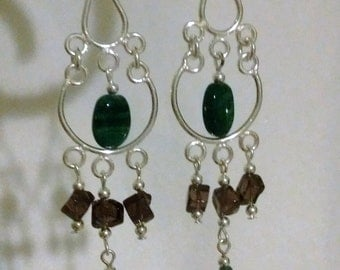 Gemstone Chandelier Earrings