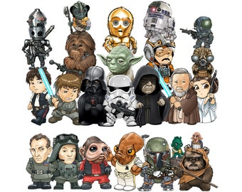 Star wars 25 PNG files clipart
