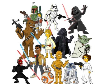 Star wars 12 PNG files clipart