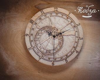 Discount!!! Wooden wall clock Prague  wall clocks Large wall clock Unique wall clock Gift