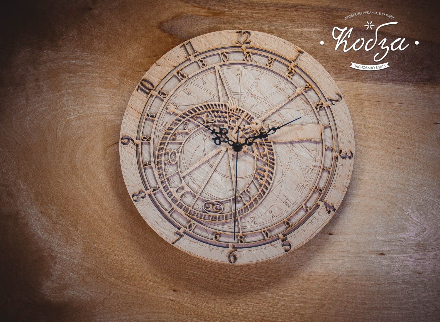 Discount Wooden wall clock Prague wall clocks Large by