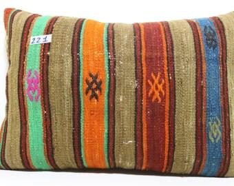 16x24 lumbar kilim pillow 16x24 turkish kilim rug pillow ethnic pillow throw pillow bed pillow cushion cover SP4060-221