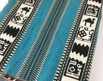 Ethnic Tribal Style Upholstery Fabric,Cotton Woven Fabric,Tapestry Fabric,Aztec Navajo Geometric Design Kilim Fabric,5 Meters/Yards