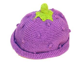 Kids crochet blackberry Hat - Toddler crochet blackberry beanie