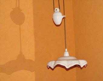 Antique chandelier suspended lamp ceramic