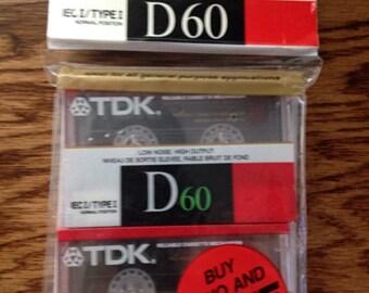 TDK IEC I/Type 1 D60 Dynamic Performance 60-Minute Cassette (2 pack)