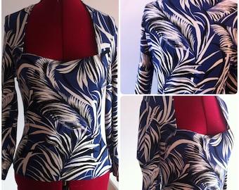 1940s Hawaiian blouse- 40s blouse - 40s hawaiian pattern
