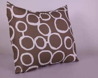 Brown Circles - Cushion Cover (45cm x 45cm)