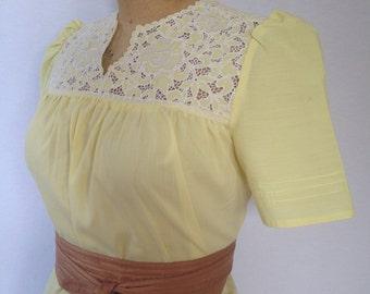 1980s yellow cotton muu muu size 12