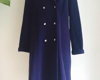Stunning Tailored Navy Jacket, Pure  New Wool