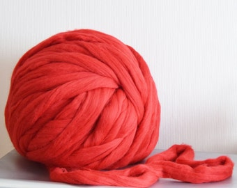 Super giant yarn. Arm knitting yarn. Big Chunky yarn 3 kg of 100 % merino wool super bulky yarn, SALE  jumbo yarn, extreme knitting.