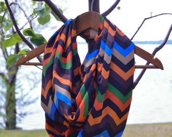 Light Weight Chevron Infinity Scarf