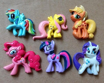 My Little Pony Flat Back Resins Embellishment Flatback Rarity Fluttershy mlp