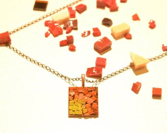 Mosaic necklace # 7