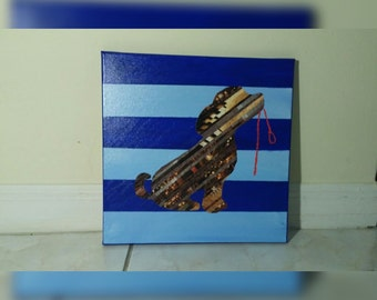 12x12 Puppy with leash