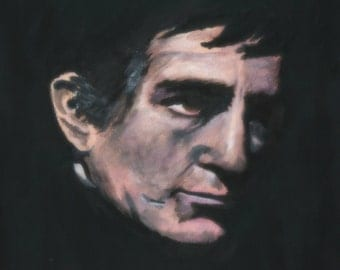 Portrait of Barnabas Collins from Dark Shadows-print