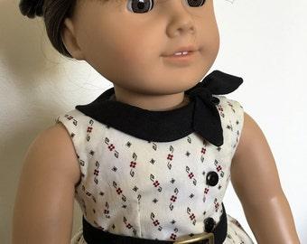 Side collar dress fits American girl dolls