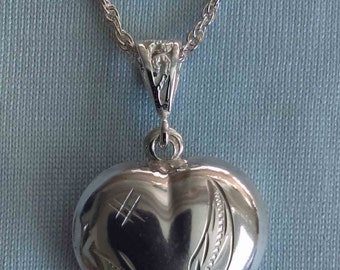 Sterling Silver 925 heart pendant ( without chain )
