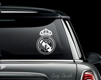 Real Madrid FC Vinyl Bumper Sticker Decal
