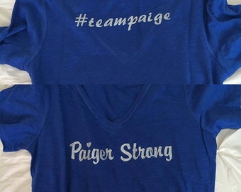 Paiger Strong V neck tee