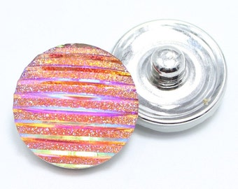 Pink Iridescent Snap Charm