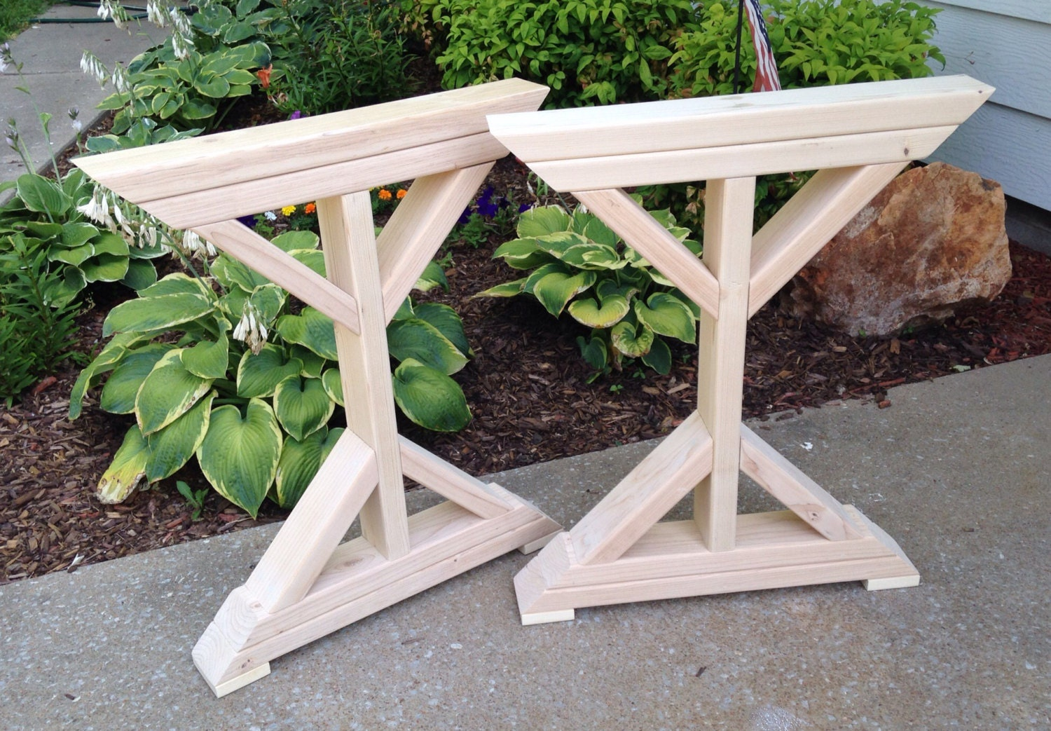 farmhouse x frame table legs wood table legs by moritzwoodworks. Black Bedroom Furniture Sets. Home Design Ideas