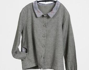 Grey Collar Jacket, Linen