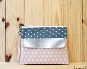 multi-purpose case in grey and pink / multipurpose case grey & pink