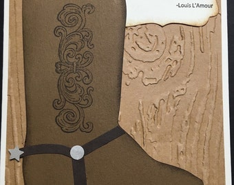 Cowboy or Cowgirl Boot card