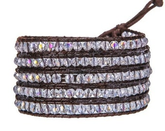 Stardust Leather Wrap Bracelet