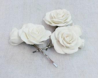 "Hair Pins ""Ivory Roses"" (Set of 3)"